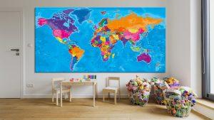 Carte Monde-Tableau