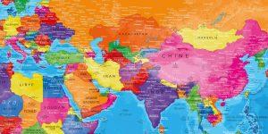 Carte Monde Complète zoom