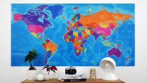 Carte Monde Plexiglas - Original Map