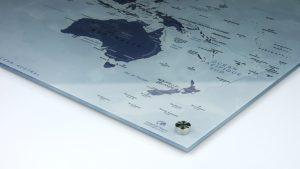 Carte du monde - Mappemonde - Cache-vis
