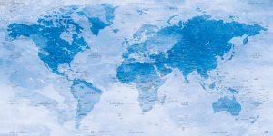 Carte Monde Aquarelle