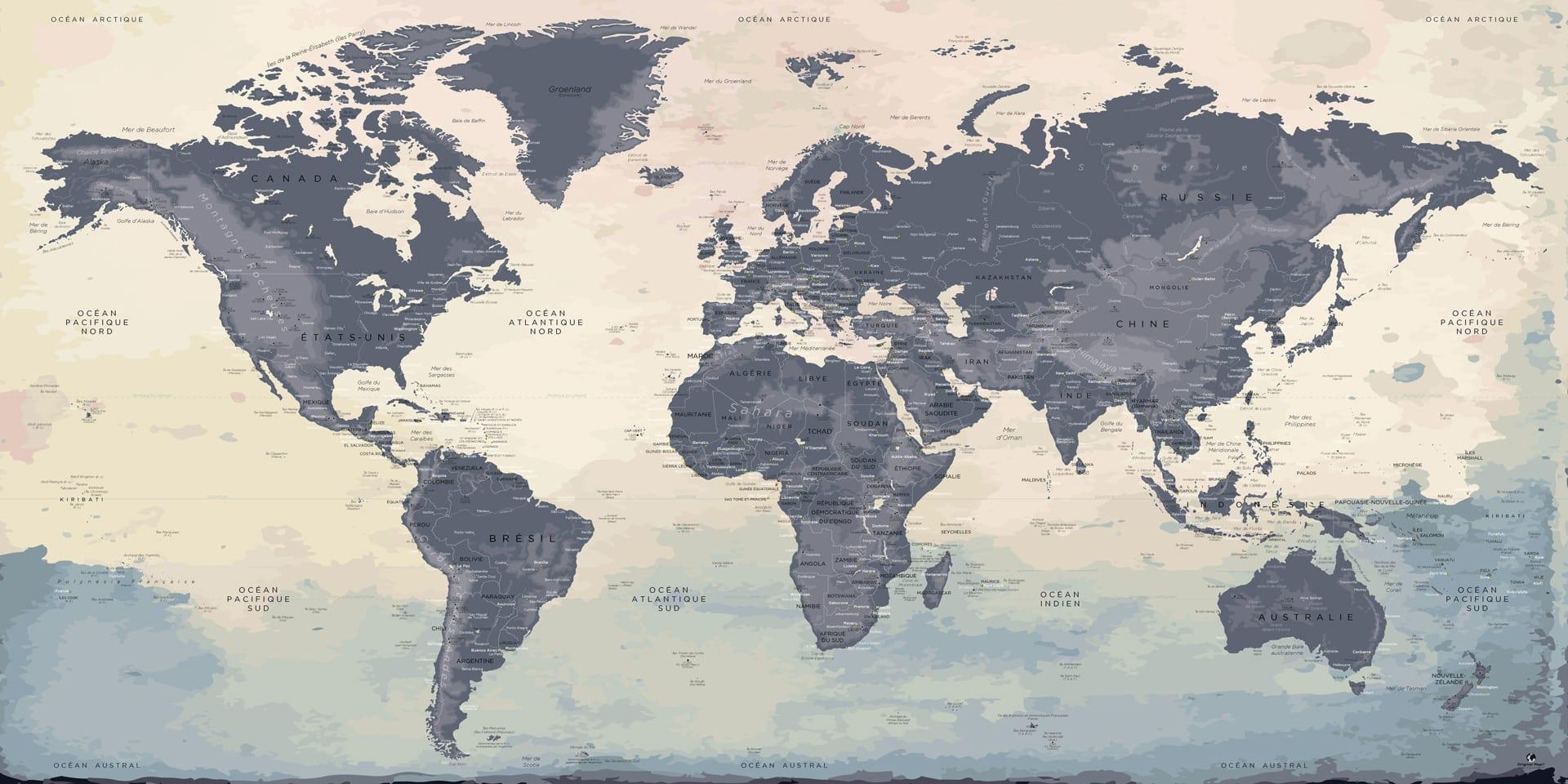 carte monde xxl mappemonde xxl carte g ante original map. Black Bedroom Furniture Sets. Home Design Ideas