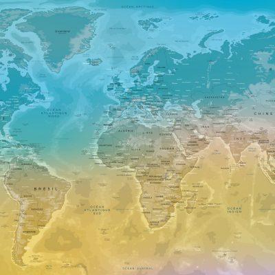 Carte Monde Relief