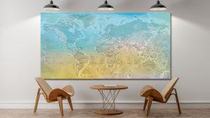 Carte Monde Relief - Ha Long