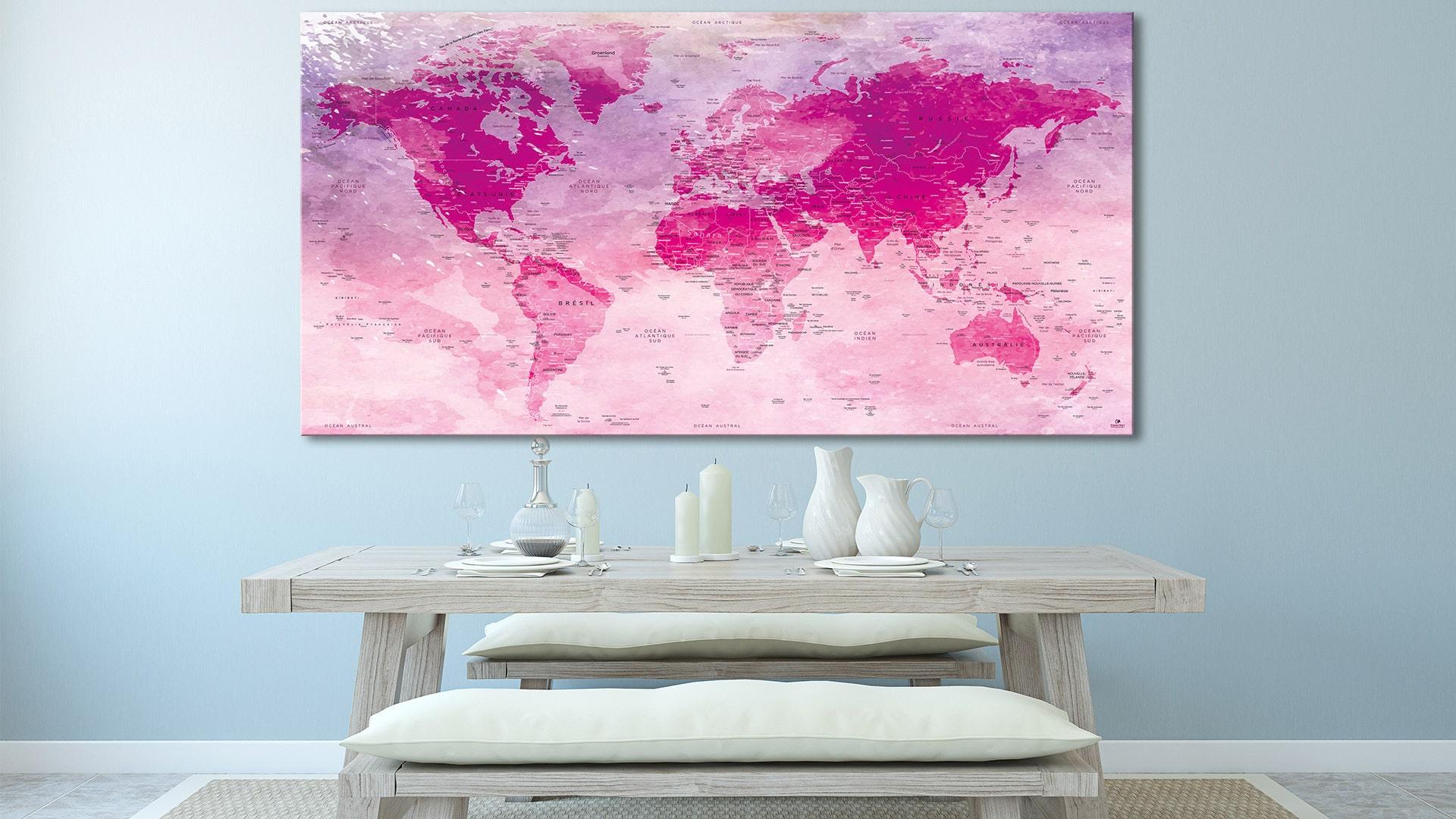 carte du monde hillier original map orignal map carte monde. Black Bedroom Furniture Sets. Home Design Ideas