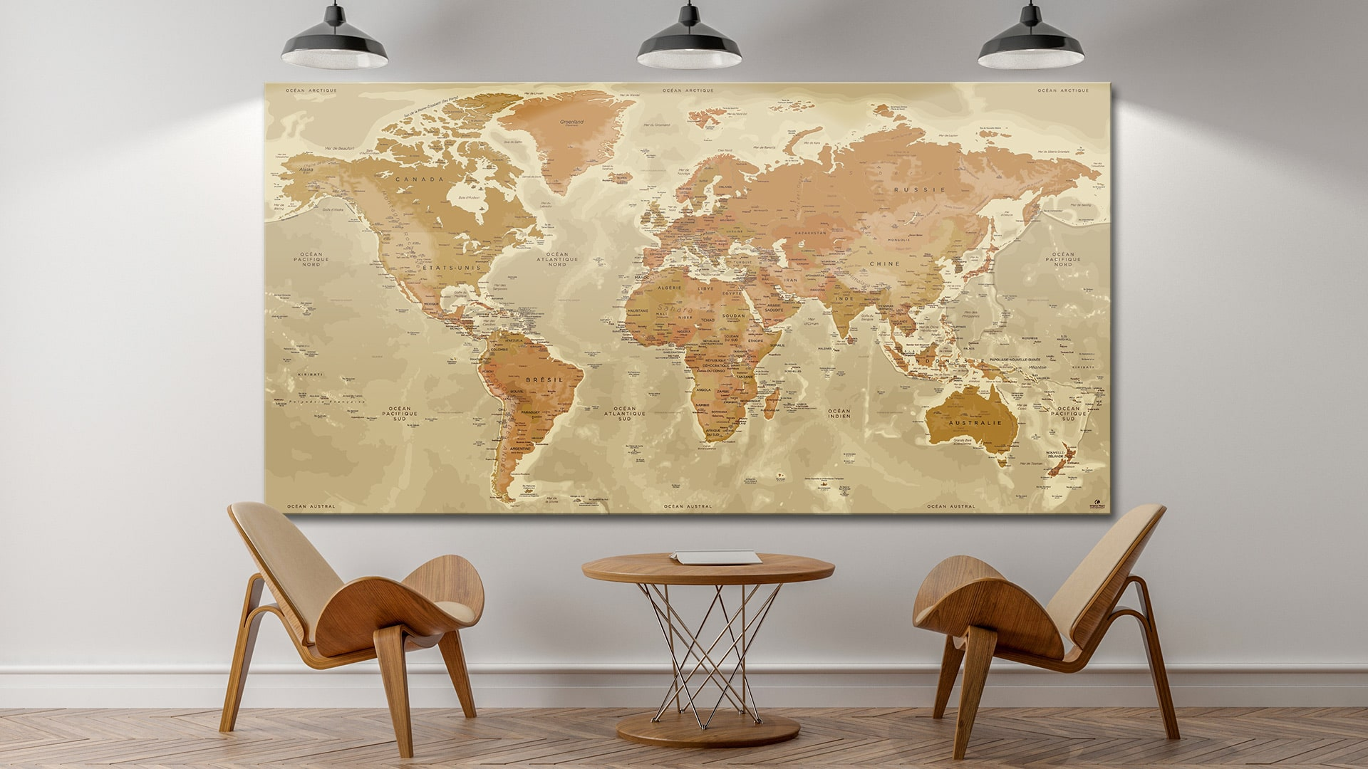 carte du monde tableau mappemonde tableau world map pers polis. Black Bedroom Furniture Sets. Home Design Ideas