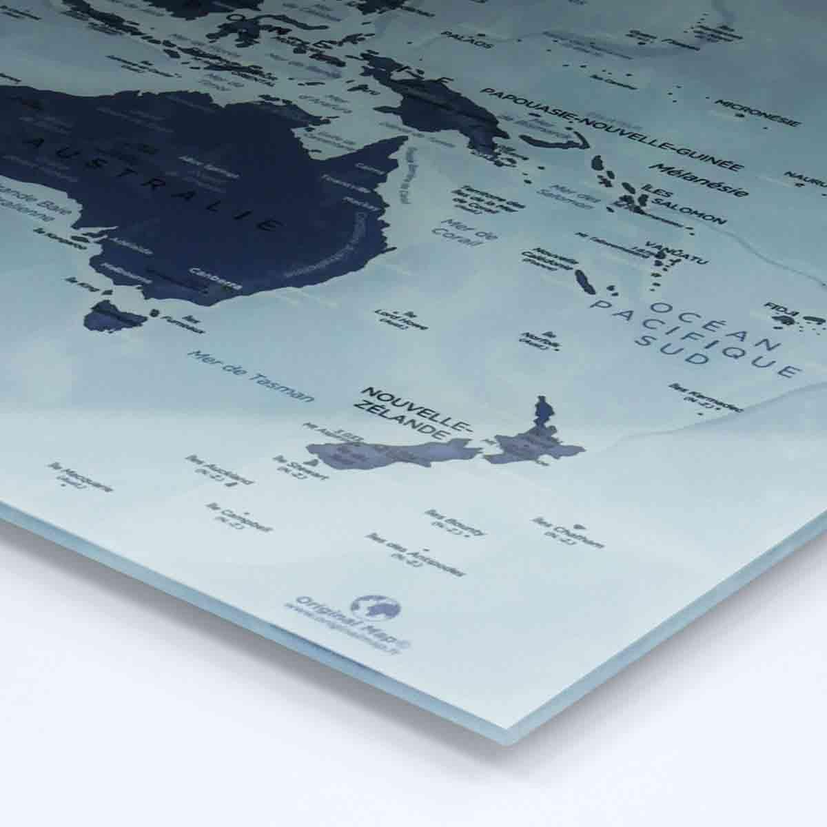 Pastille adhésive - Mappemonde - Original Map