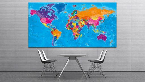 Carte Monde Tableau - Manarola