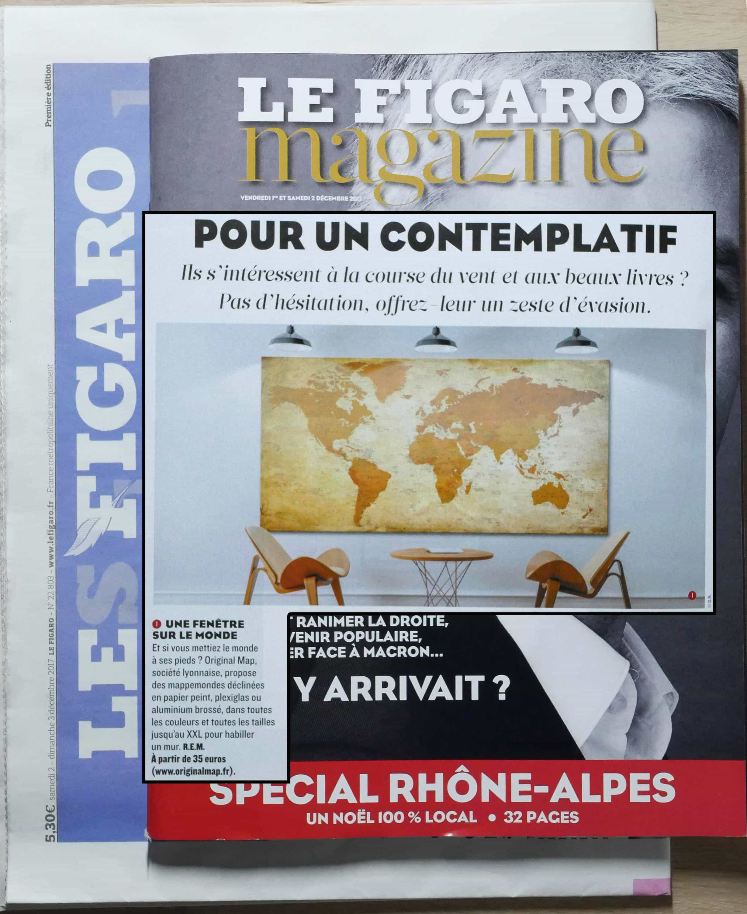 ORIGINAL MAP - FIGARO MAGAZINE