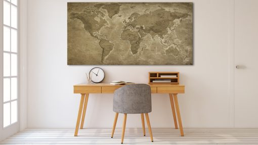 Carte Monde Vintage
