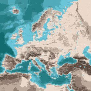 Carte monde Europe - Mappemonde Europe
