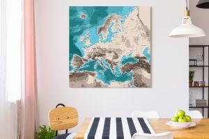 Map Europe Moaï