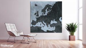 Map Europe Trolltunga
