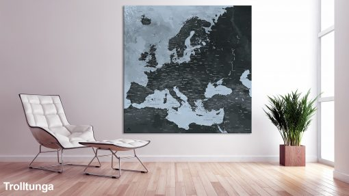 Map Europe Trolltunga