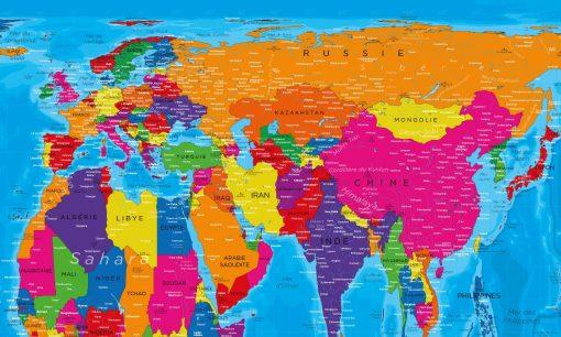 Carte du Monde Peters