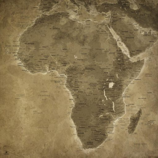 Map Afrique Lascaux