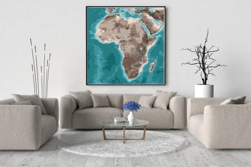 Map Afrique Moaï