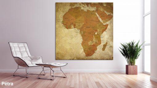 Mappemonde Afrique Pétra
