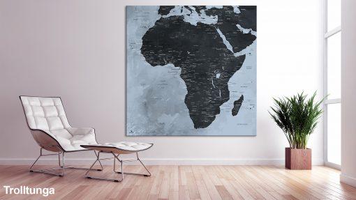 Map Afrique Trolltunga