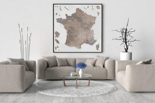 Carte de France Détaillée - Idée Cadeau