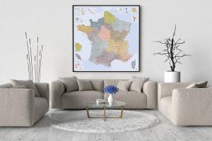 Belle Carte de France Détaillée