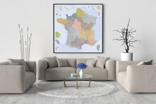 Belle Carte de France Détaillée