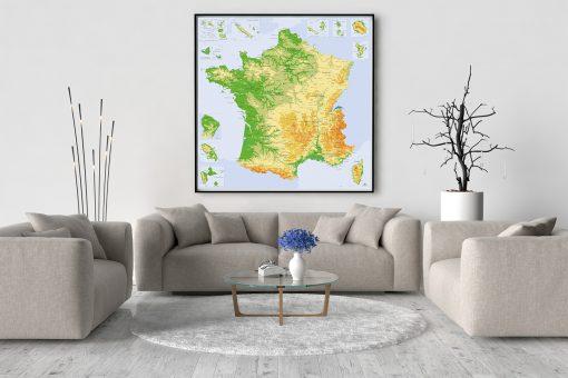 Carte de France Détaillée - Carte Scolaire