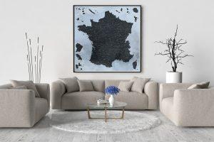 Carte de France Détaillée - Carte Murale