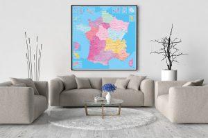 Carte de France Détaillée - Grande Format