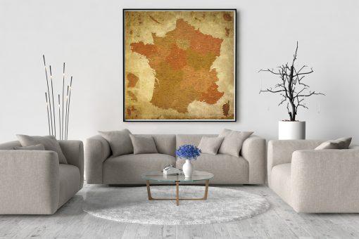 Carte de France Détaillée Vintage