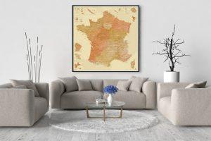 Carte de France Détaillée Design