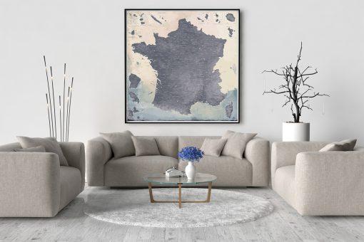 Carte de France Détaillée Moderne