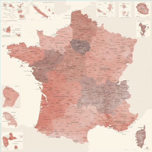 Carte France déco | Original Map