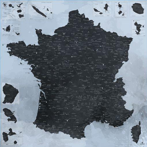 Carte France design | Original Map
