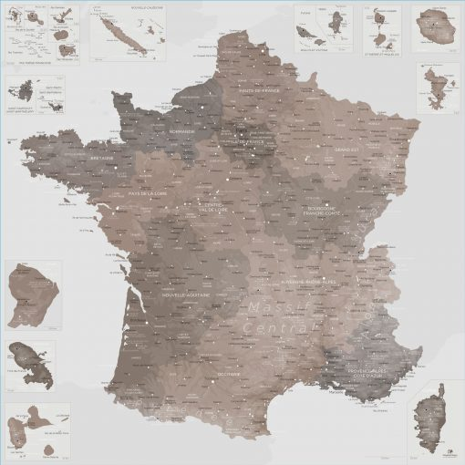 Carte France géante | Original Map