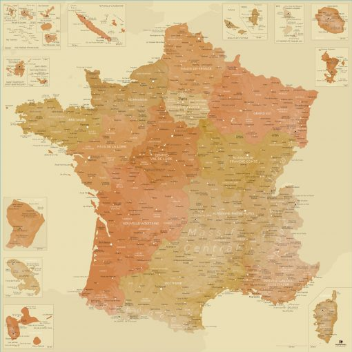 Carte France moderne | Original Map
