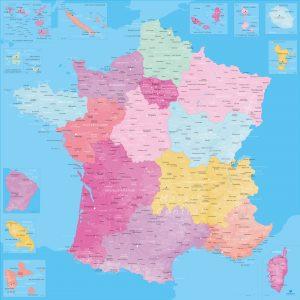 Carte France nouvelles régions | Original Map