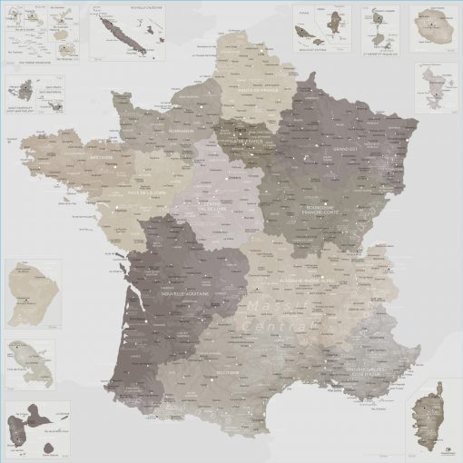 Grande carte France | Original Map
