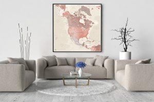 Map Amérique Nord Alhambra