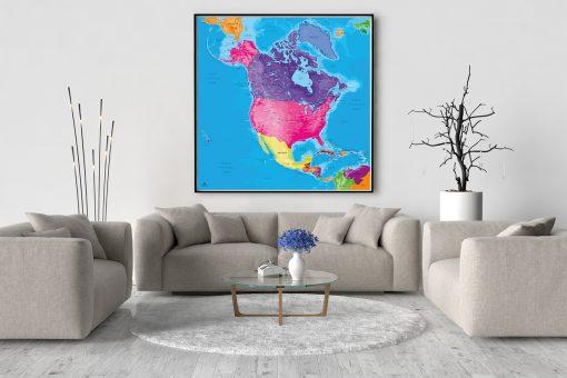 Map Amérique Nord Manarola
