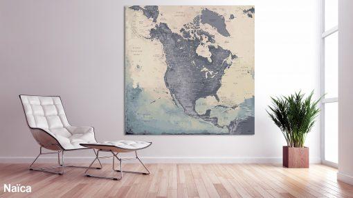 Map Amérique Nord Naïca