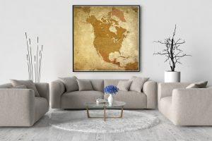 Map Amérique Nord Pétra