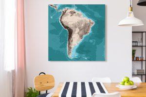 Map Amérique Sud Moaï