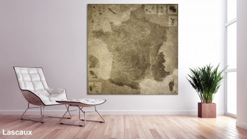Map France Lascaux