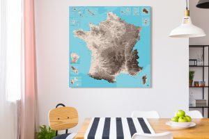 Map France Moaï