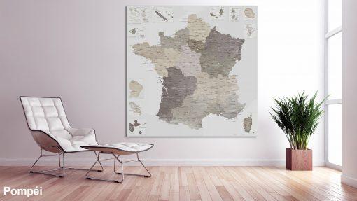 Map France Pompéi