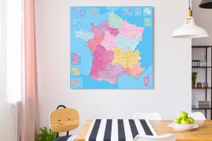 Map France Santorin