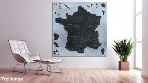 Map France Trolltunga