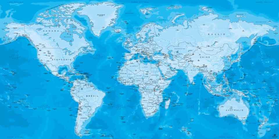 Mappemonde Perito Moreno