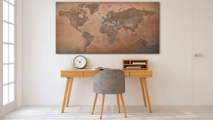 Belle Carte Monde Déco